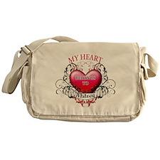 My Heart Belongs to Whitney Messenger Bag