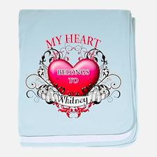 My Heart Belongs to Whitney baby blanket