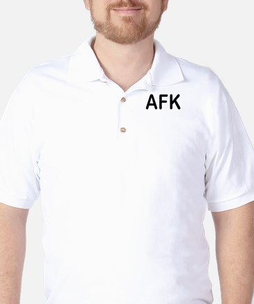 AFK/BRB Geek Humor Golf Shirt