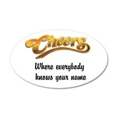 Where everybody knows your name 22x14 Oval Wall Pe