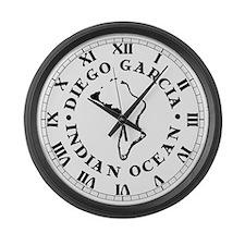 Diego Garcia Large Wall Clock