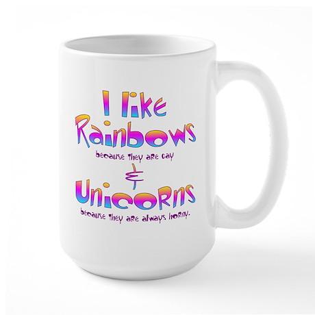 I Like Rainbows & Unicorns Large Mug