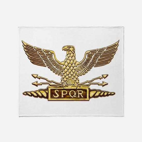 Gold Legion Eagle Throw Blanket
