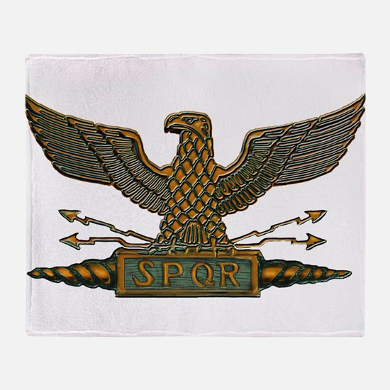 Roman Eagle in Copper Throw Blanket