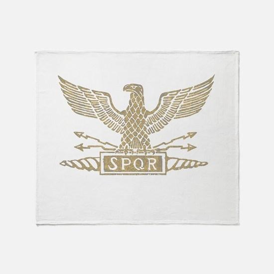 Light Distressed Roman Eagle Throw Blanket