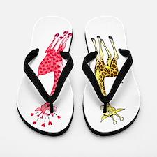 Valentine Giraffes Flip Flops