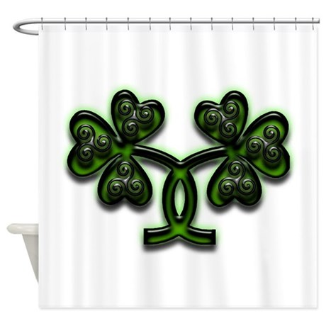Triskele Shamrocks Shower Curtain