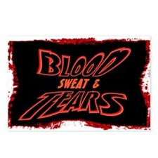 blood sweat and tears Postcards (Package of 8)