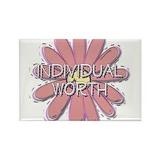 Individual Worth - Young Wome Rectangle Magnet