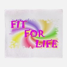 fit for life Throw Blanket