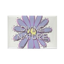 Divine Nature - Young Women V Rectangle Magnet