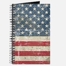 Vintage USA Flag Journal