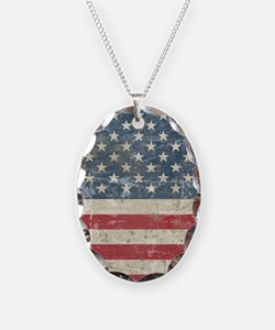 Vintage USA Flag Necklace