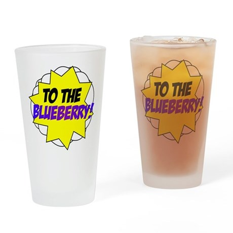 Psych, To The Blueberry! Drinking Glass