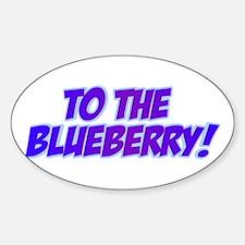 Psych, Blueberry! Sticker (Oval)