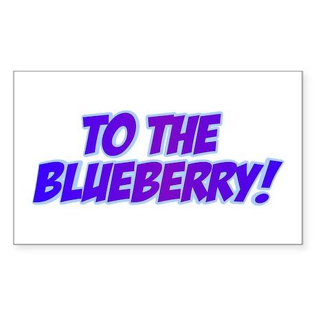 Psych, Blueberry! Sticker (Rectangle)