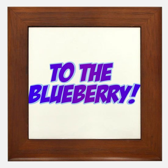 Psych, Blueberry! Framed Tile