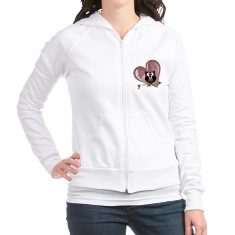 Valentine Owl and Red Heart Jr. Hoodie