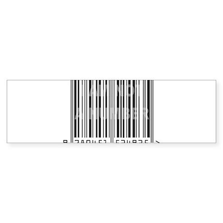 I Am Not A Number Sticker (Bumper)