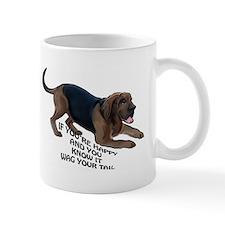 happy bloodhound Mug