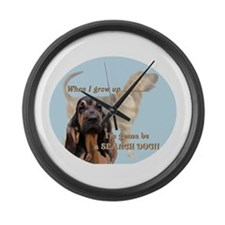 bloodhound puppy Large Wall Clock