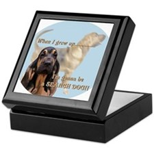 bloodhound puppy Keepsake Box