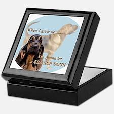 bloodhound puppy Keepsake Box