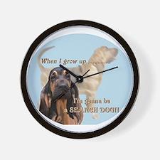 bloodhound puppy Wall Clock