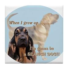 bloodhound puppy Tile Coaster