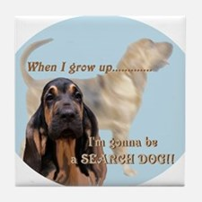 bloodhound puppy Tile Coaster