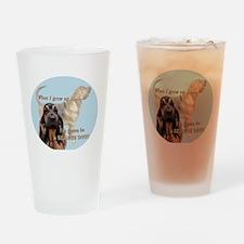 bloodhound puppy Drinking Glass