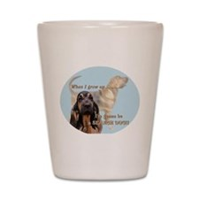bloodhound puppy Shot Glass