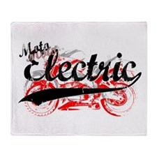 Electric Motorcycles Throw Blanket