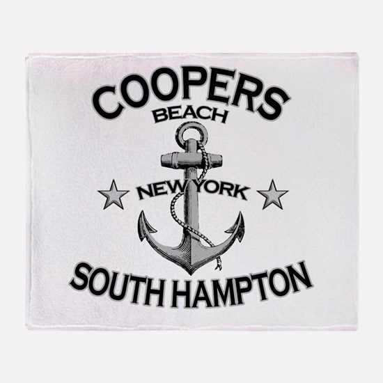 Coopers Beach, South Hampton, Throw Blanket