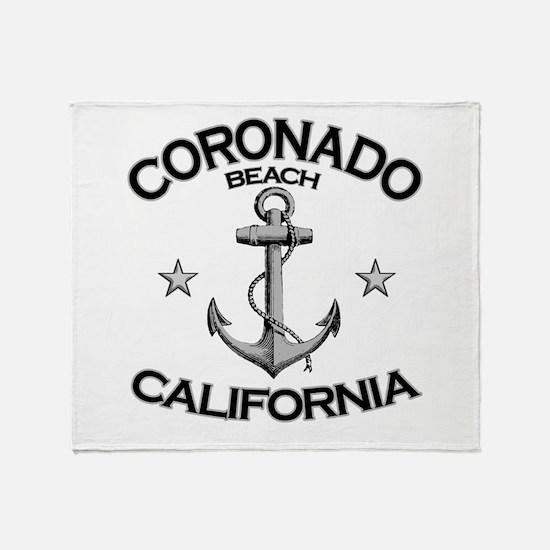 Coronado Beach, California Throw Blanket