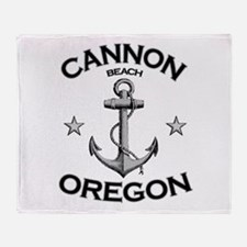 Cannon Beach, Oregon Throw Blanket