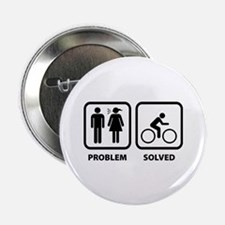 """Problem Solved Cycling 2.25"""" Button (100 pack)"""