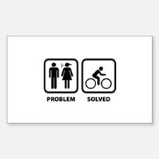 Problem Solved Cycling Decal
