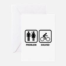 Problem Solved Cycling Greeting Cards (Pk of 10)