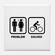 Problem Solved Cycling Tile Coaster