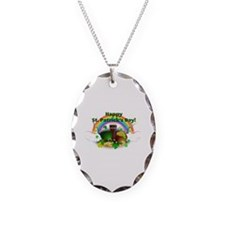 Happy Saint Patrick's Day Necklace Oval Charm