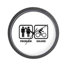Problem Solved Cycling Wall Clock