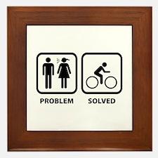 Problem Solved Cycling Framed Tile