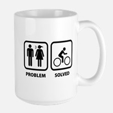 Problem Solved Cycling Large Mug