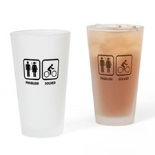 Problem Solved Cycling Drinking Glass