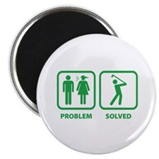 "Problem Solved Golfing 2.25"" Magnet (10 pack)"