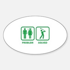 Problem Solved Golfing Decal