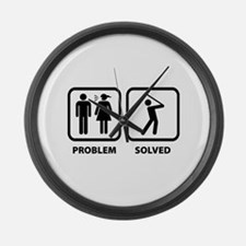 Problem Solved Golfing Large Wall Clock