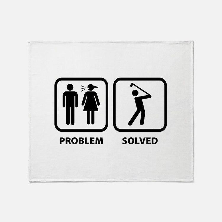 Problem Solved Golfing Throw Blanket