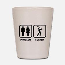 Problem Solved Golfing Shot Glass